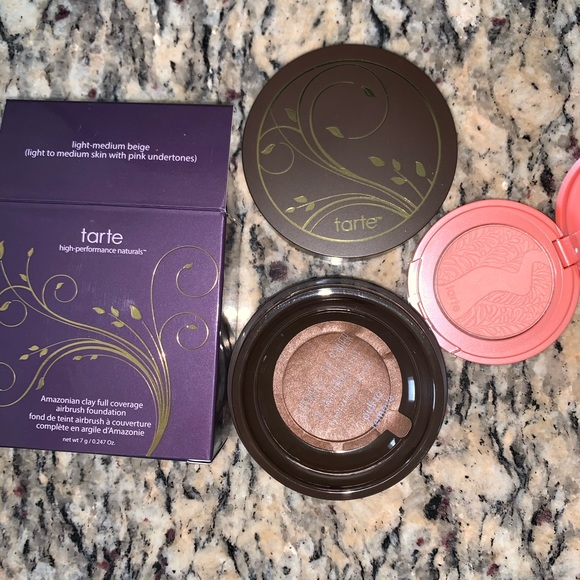 tarte Other - Airbrush Foundation Powder + Blush Deluxe Mini